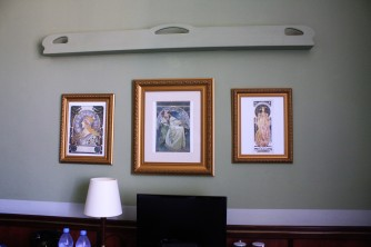 Mucha prints in our hotel room