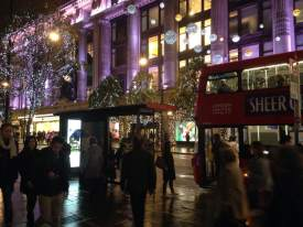 Oxford Street lit up